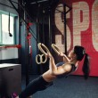 Crossfit workout on ring — Stock Photo #70119189