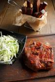 Delicious steak with red chili pepper — Zdjęcie stockowe