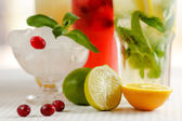 Three glasses of refreshing drink Mohito — Stock Photo