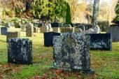 Old Norwegian tombstones — Stock Photo