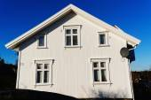 White wooden house wall  — Foto Stock
