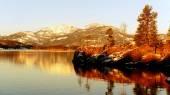 湖上岛 — 图库照片