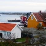 Marina on the fjord — Stock Photo #61679125
