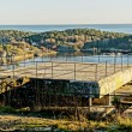Observation deck on old building port defense system — Stock Photo #62033965
