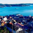 Bay with an old port over the fjord — Stock Photo #62034079