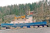 Old white Norwegian  ferry — Stock Photo