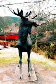 Metal sculpture elk — Stockfoto