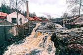 Waterfall rushing rivers — Stock Photo
