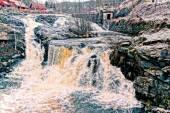 Lomma river rushing waterfall — Stock Photo