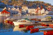 Kragero seaport in Norway — Stock Photo