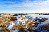 Winter Norwegian Sea coast — Stock Photo