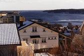Norwegian fjord during wind — Stock Photo