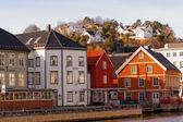 Bryggen buildings in Arendal, Norway — Photo