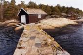 Wooden boat building, Norway — ストック写真