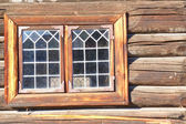 Norwegian old stained-glass window — Stock Photo