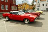 Plymouth superbird in red  — Stock Photo