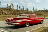 Chevrolet in red — Stock Photo