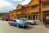 Chevrolet in blue — Stock Photo