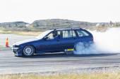Yarış sonbahar Norveç'te drift araba modifiye — Stok fotoğraf