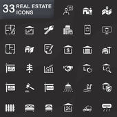 33 real estate icons — Vettoriale Stock
