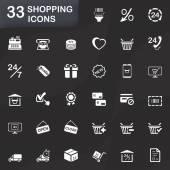 33 shopping icons — Vector de stock