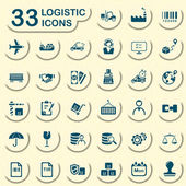 33 jeans logistic icons — Stock Vector