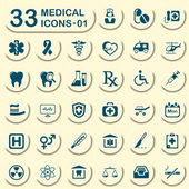 33 jeans medical icons - 01 — Stock Vector