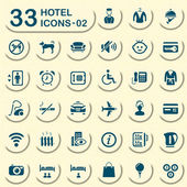 33 jeans hotel icons 02 — Stock Vector