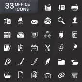 33 office icons — Stock Vector