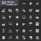 33 travel icons 01 — Stock Vector