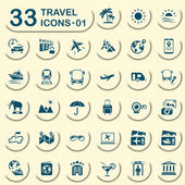 33 jeans travel icons 01 — Stockvector