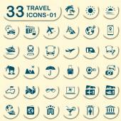 33 jeans travel icons 01 — Stock Vector