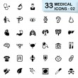 33 black medical icons 02 — Stock Vector #72085299
