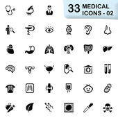 33 black medical icons 02 — Stock Vector