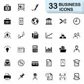 33 black business icons — Stock Vector