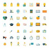 Flat icons big set travel marketing hipster science education business money shopping objects health delivery — ストックベクタ
