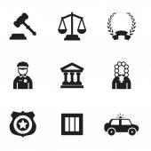 ícones do direito — Vetor de Stock