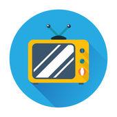 Retro tv icon — Stock Vector