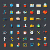 Conjunto de ícones plana grande — Vetor de Stock