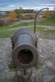 Velká zbraň ve staré pevnosti — Stock fotografie