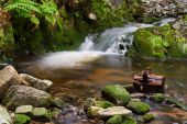 Cascade on the river — Stock Photo