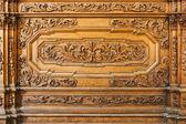 Drewniane ławki — Zdjęcie stockowe