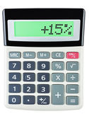 Calculator with 15 on display on white — Stock fotografie