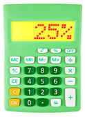 Calculator met 25 op vertoning op wit — Stockfoto