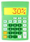 Calculator with 30 on display on white — Stock Photo