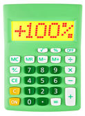 Calculator with 100 on display on white — Stock Photo