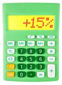 Calculator with 15 on display on white — Stock Photo