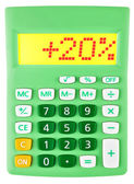 Calculator with 20 on display on white — Foto Stock