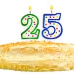 Birthday cake candles number twenty five isolated — Stock Photo #56459907