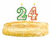 Birthday cake candles number twenty four isolated — Stock Photo